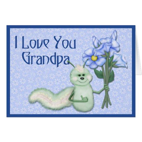 Insecto del amor del abuelo tarjeta de felicitación