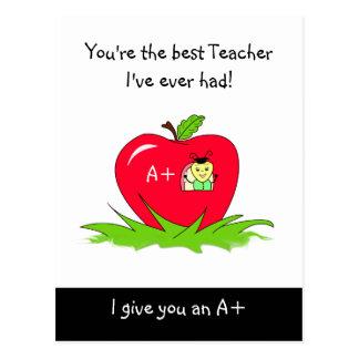 Insecto del profesor del aprecio del profesor el postal