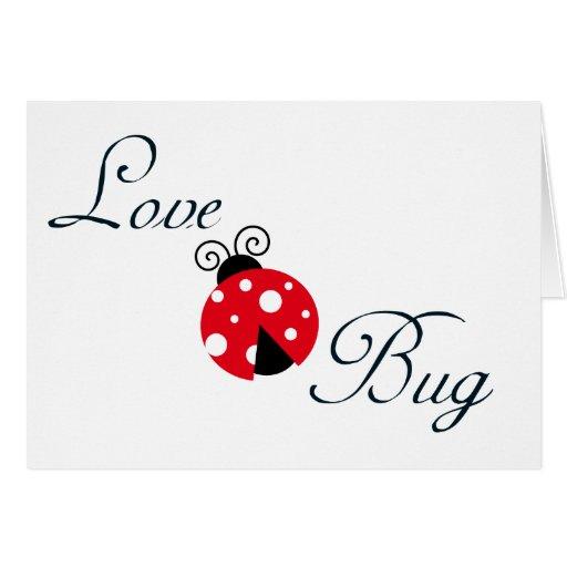 Insecto rojo del amor - mariquita tarjetas