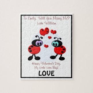 Insectos del amor de la propuesta de matrimonio puzzle