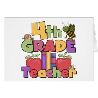 Insectos y 4to profesor del grado de las manzanas tarjeta de felicitación
