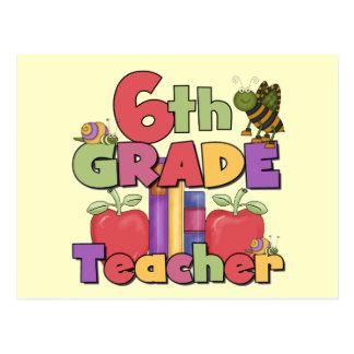 Insectos y 6to profesor del grado de las manzanas postal