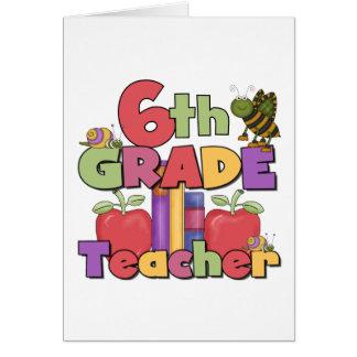 Insectos y 6to profesor del grado de las manzanas tarjeta