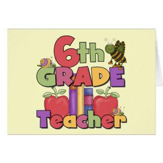 Insectos y 6to profesor del grado de las manzanas tarjeta de felicitación