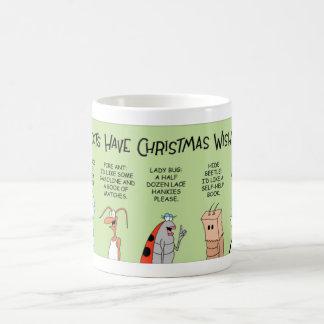 Insectos y sus listas de objetivos del navidad taza de café