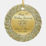 Inserte el aniversario de boda de los años adorno de navidad