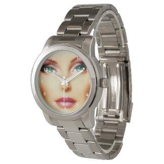 Inserte su propia pulsera de plata unisex de la reloj