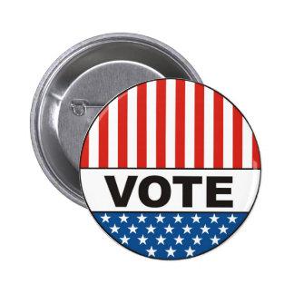 insignia 2012 político del voto de las elecciones pins