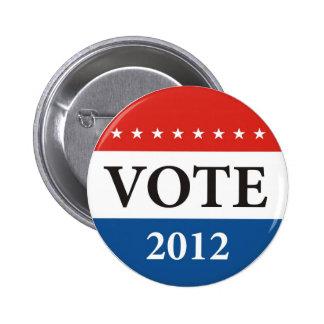 insignia 2012 político del voto de las elecciones pin