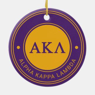 Insignia alfa de la lambda el | de Kappa Adorno Navideño Redondo De Cerámica