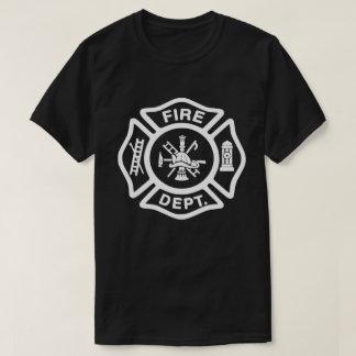 Insignia blanca del cuerpo de bomberos camiseta