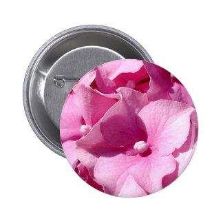 Insignia/botón rosados del Hydrangea Chapa Redonda De 5 Cm
