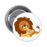 Insignia cariñosa linda del papá del león del dibu chapa redonda de 5 cm