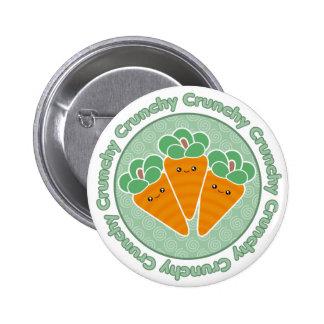 Insignia crujiente del botón de las zanahorias de