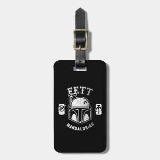 Insignia de Boba Fett Etiquetas Bolsa