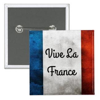 Insignia de Francia del La de Vive Chapa Cuadrada