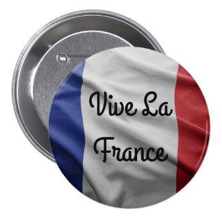 Insignia de Francia del La de Vive Chapa Redonda De 7 Cm