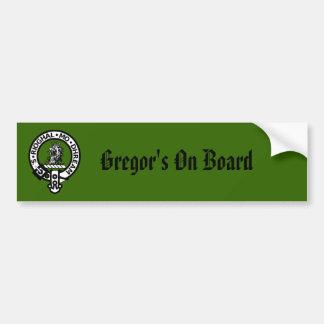 Insignia de Gregor, Gregor a bordo Pegatina Para Coche