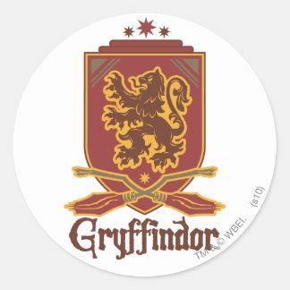 Insignia de Gryffindor Quidditch Pegatina Redonda