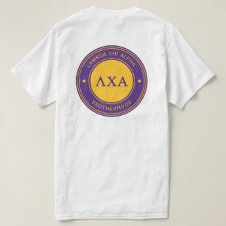 Insignia de la alfa el | de la ji de la lambda camiseta