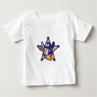 Insignia de la estrella del vaquero del sheriff camiseta de bebé
