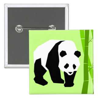 Insignia de la panda chapa cuadrada
