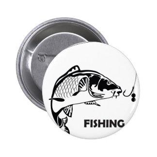 Insignia de la pesca de la carpa chapa redonda de 5 cm