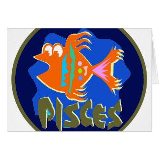 Insignia de Piscis Tarjeta De Felicitación
