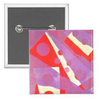 Insignia del arte abstracto chapa cuadrada 5 cm