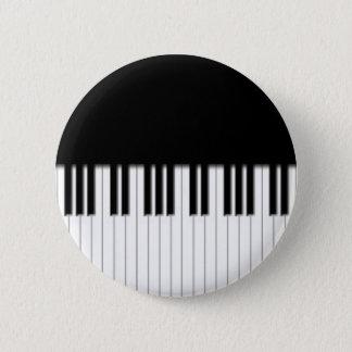Insignia del botón - blanco del negro del teclado