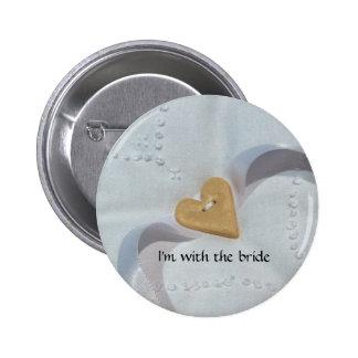 Insignia del botón de la huésped del boda