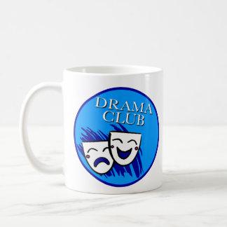 Insignia del club del drama taza básica blanca