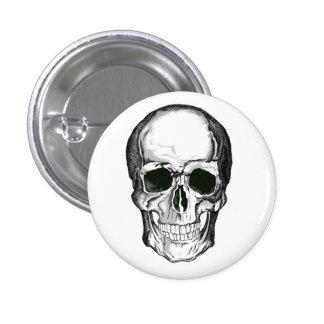 Insignia del cráneo chapa redonda de 2,5 cm