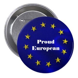 Insignia del orgullo de la unión europea chapa redonda de 7 cm