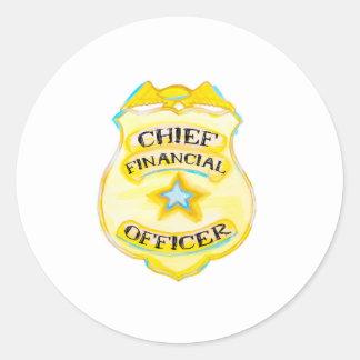 Insignia del pegatina CFO de las finanzas del