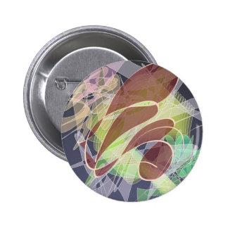 Insignia digital moderna del diseño del arte chapa redonda 5 cm