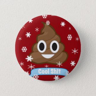 Insignia divertida del botón del navidad de Emoji