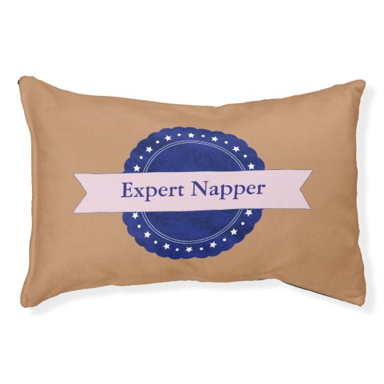 Insignia experta azul del Napper Cama Para Mascotas