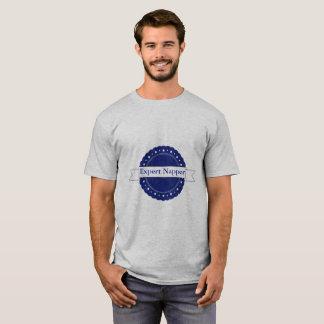 Insignia experta azul del Napper Camiseta