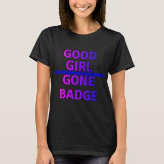 Insignia ida buen chica ligeramente Blue Line Camiseta