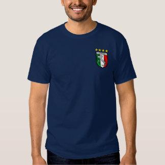 Insignia italiana del emblema de la bandera camisetas
