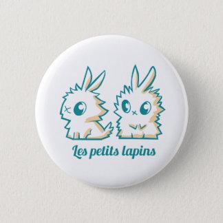 Insignia los pequeños conejos chapa redonda de 5 cm
