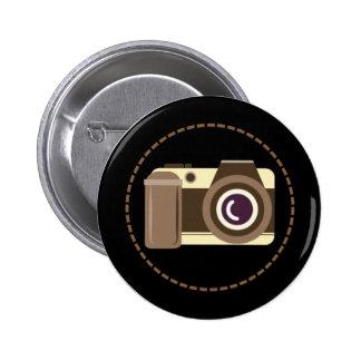 Insignia moderna del botón de la cámara