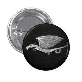 Insignia pintada del dragón chapa redonda de 2,5 cm