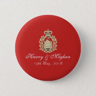 Insignia real del botón de Harry y del boda de