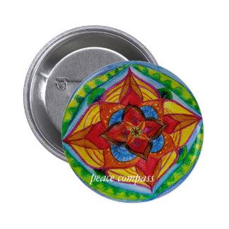 Insignia redonda de la mandala del compás de la chapa redonda de 5 cm