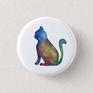 Insignia redonda del gato de la estrella chapa redonda de 2,5 cm