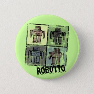insignia retra del robotto chapa redonda de 5 cm