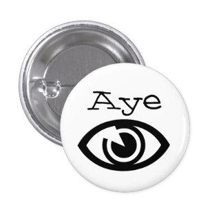 Insignia retra libre del botón del arte del ojo de