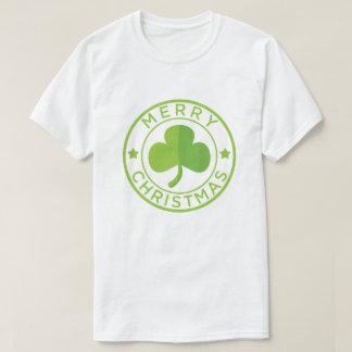 Insignia verde de las Felices Navidad Camiseta
